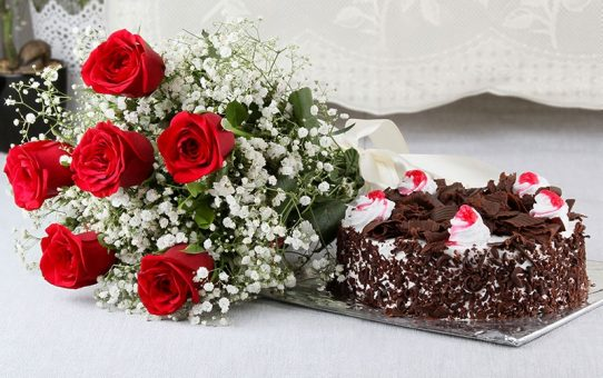 Surprise your loves one by sending cake and flowers