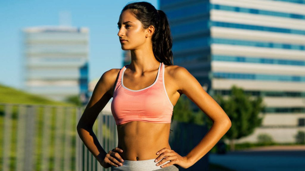 Best Exercise for sporty young woman Lift Up