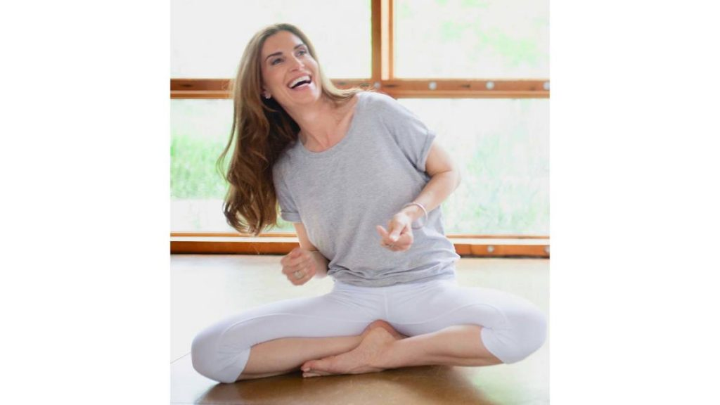 smilling yoga girl