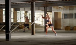 Battle Ropes work out for fitness
