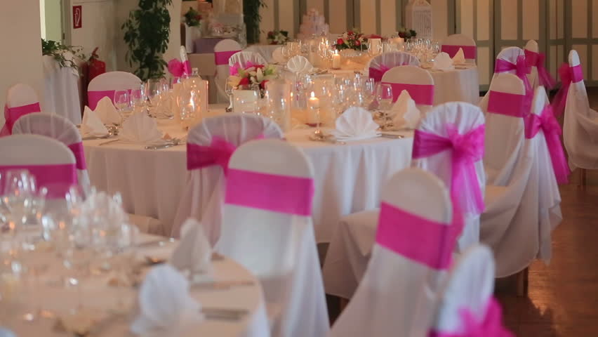 Chair decoration for wedding dinner