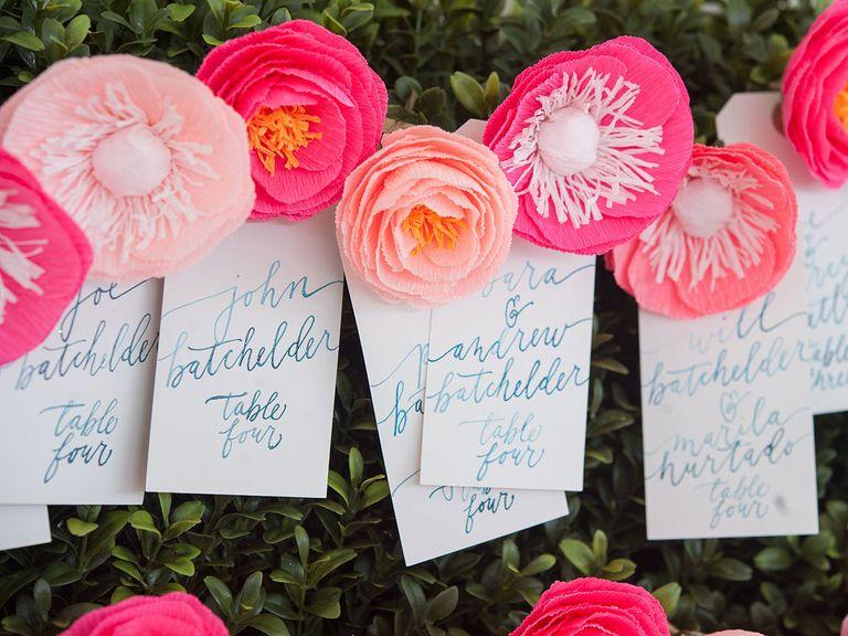 love letter in wedding idea
