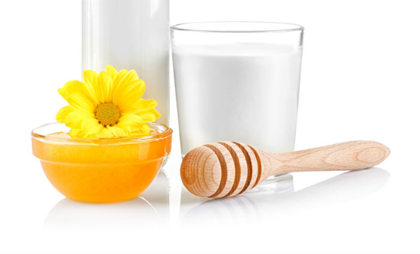 Milk and Honey for hair softening