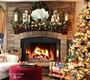 fireplace decoration ideas for christmas