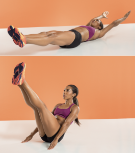 JACKKNIFE CRUNCH - belly fat burn exercise