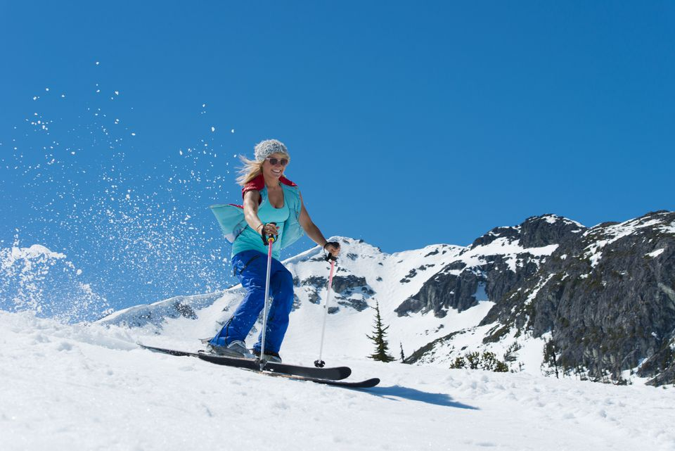 Skiing - funny ways to burn calories