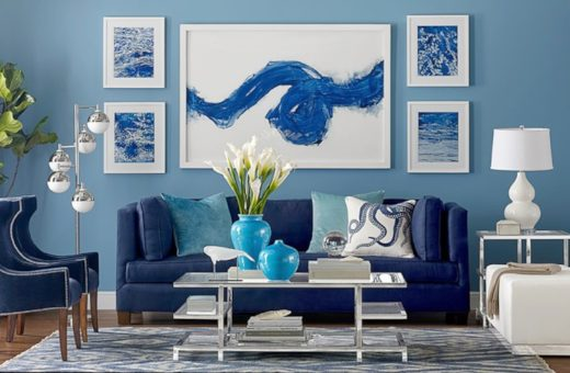 5 Living Room Ideas with the Blue Color of the Year 2020