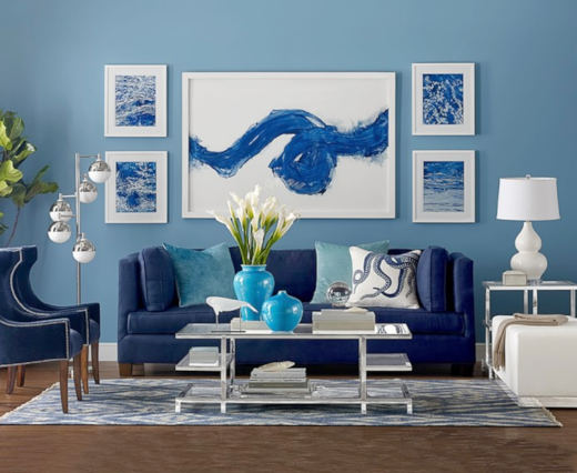 home decoration ideas with blue color