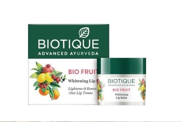 Biotique Fruit Whitening Lip Balm for dark lips