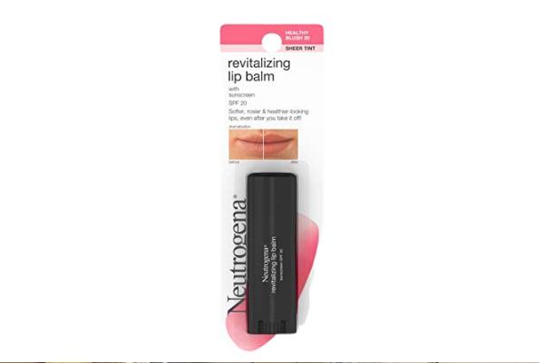 Neutrogena Revitalizing and Moisturizing Tinted Lip Balm for dark lips